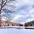 Winter At The Dam by David Patterson