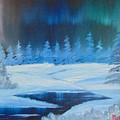 Winter Aurora by Alan K Holt