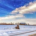 Winter Barn 3 - Paint by Steve Harrington