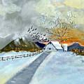 Winter Barn by Donna Blackhall