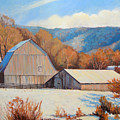 Winter Barns by Keith Burgess