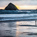 Winter Beach Stroll by Jim Young