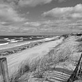 Winter Beach View - Black And White by Dianne Cowen