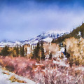 Winter Beginnings In Colorado Landscape Art By Jai Johnson by Jai Johnson