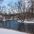 Winter Blue James River by Jennifer White