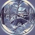 Winter Bridge In Blue by Megan Walsh