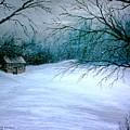 Winter Cabin by David Richardson