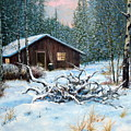 Winter Cabin by E Colin Williams ARCA