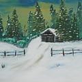 Winter Cabin by Jimmy Clark
