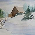 Winter Cabin by Katherine Berlin