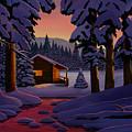 Winter Cabin by Mark Regni