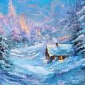 Winter Cabin by Nadia Bindr