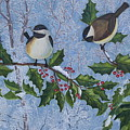 Winter Chickadees by Anna Holbert
