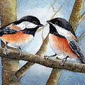 Winter Chickadees by Susy Soulies