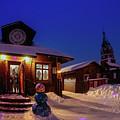 Winter Christmas Evening Lights by Anna Matveeva