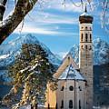 Winter Church In Bavaria by Brian Jannsen