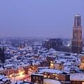 Winter Cityscape Of Utrecht In The Evening 14 by Merijn Van der Vliet