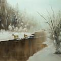 Winter Deer Run by Chris Fraser