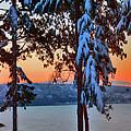 Winter Drama Sunrise Panorama by Mary Gaines