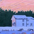 Winter Dusk by Laurie Breton