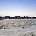 Winter Evening In Racine by Ricky L Jones