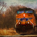Winter Evening Union Pacific Train by Anna Louise
