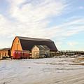 Winter Farm by Viktor Birkus