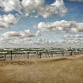 Winter Fences In Grand Haven 3.0 by Michelle Calkins
