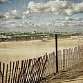 Winter Fences In Grand Haven by Michelle Calkins