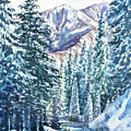 Winter Forest And Mountains by Irina Sztukowski