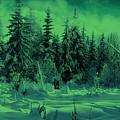 Winter Forest Dream At Dusk by David Dehner