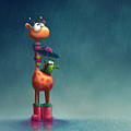 Winter Giraffe by Tooshtoosh