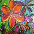 Winter Glow Flower Painting by Chris Hobel