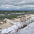 Winter Ice On Lake Michigan Ll by Michelle Calkins