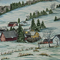 Winter In East Chatham Vermont by Charlotte Blanchard