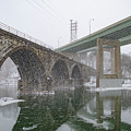 Winter In East Falls Along The Schuylkill River by Bill Cannon