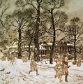 Winter In Kensington Gardens by Arthur Rackham