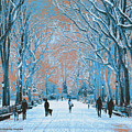 Winter In The City Park by Michael Chatman