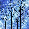 Winter In The Woods Abstract by Irina Sztukowski