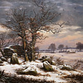 Winter Landscape. Near Vordingborg by Johan Christian Dahl