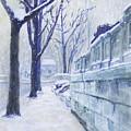Winter Landscape Washington Dc Original Painting Sketch by G Linsenmayer