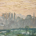 Winter Landscape With Evening Sky by Claude Monet