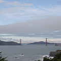 Winter Landscape With Golden Gate Bridge by Clay Cofer