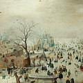 Winter Landscape With Ice Skaters1608 by Hendrick Avercamp