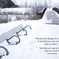 winter landscape with Inspirational Text by Donald  Erickson