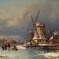 Winter Landscape With Mills Zaardam by MotionAge Designs