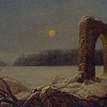 Winter Landscape With Ruined Arch by Celestial Images