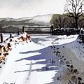 Winter Lane Sowood by Paul Dene Marlor