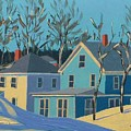Winter Linden Street by Laurie Breton