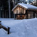 Winter Lodge In The Forrest by Wolfgang Stocker